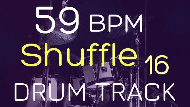 Shuffle 59 BPM - DRUMS TRACKER